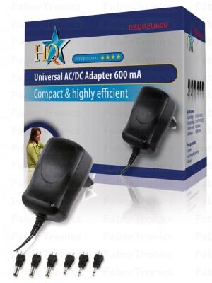 Universele AC/DC adapter 600 mAh