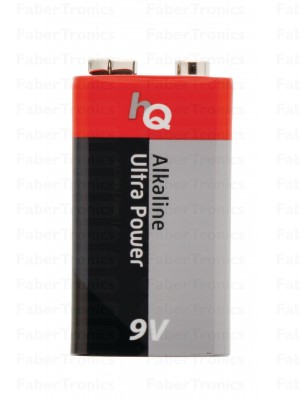 HQ 9V blokbatterij