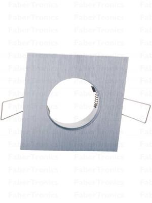 Vierkant Luzern inbouwarmatuur Aluminium