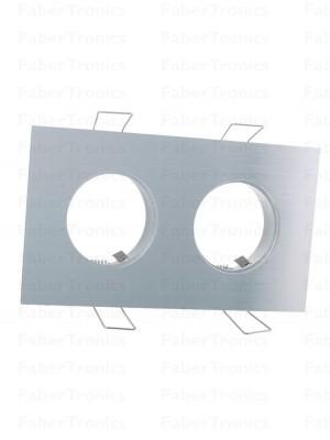 Rechthoek Klemko Lumiko Verona / Luzern inbouwarmatuur Aluminium 2voudig