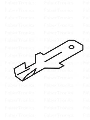 Platte stekker 6,3, 0,5 - 1,0mm²