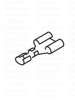 Platte stekkerhuls 6,3, 0,5 - 2,5mm²