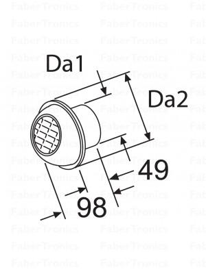 Webasto uitstroomrooster 60mm draaibaar (bolletje)