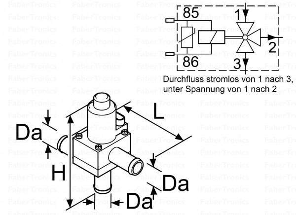 Webasto elektrische 3-wegklep