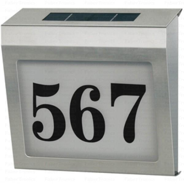 Solar huisnummerbord