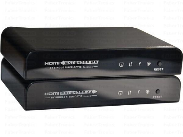 HDMI extender over glasvezel met IR (20km)