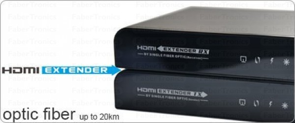 HDMI extender over fiber met IR