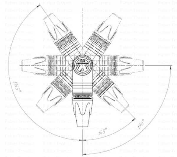 Neutrik XLR 5p male haaks
