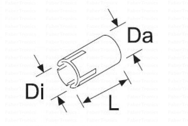 Webasto RVS uitlaat verloopring 22 - 24,5mm